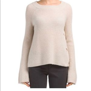 Only Mine Cashmere Bell Sleeve Pullover Sweater M